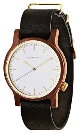 Kerbholz Damen-Armbanduhr Analog Quarz Kunstleder 104007V000003 - 1
