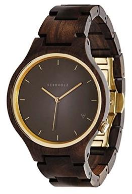 Kerbholz Unisex-Armbanduhr Analog Quarz Kunstleder 104001V000004 - 1