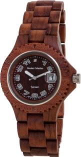 TENSE Mens Compass Premium Holzuhr G4100R - Natürliches Rosenholz G4100R -