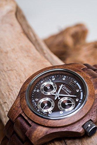 TENSE Mens Northwest Premium Holzuhr G4300W - Natürliches Walnuss Holz G4300W -