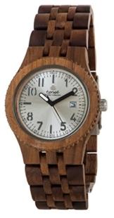 TENSE Mens Yukon Premium Holzuhr J5200W - Natürliches Walnuss Holz J5200W -