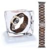 X-cool Holz und Metall Kühlen Leicht Gemütlich Sport Armband for Apple Watch(Sandelholz, 42mm) -
