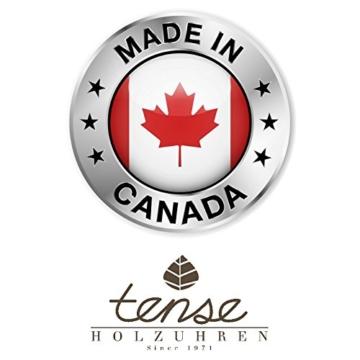 TENSE HOLZUHR ✿ PREMIUM ✿ Mens Hampton ✿ Handgefertigt in Kanada ✿ Walnussholz - weißes Ziffernblatt - Herrenuhr aus Holz B4700W-W -