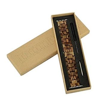 AIYIBEN Herren Holz Uhrenarmband 38mm kompatibel mit Apple Watch Alle Modelle (38MM, Zebra wood) - 6