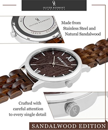 REDMONT Herrenuhr mit Holzarmband Analog Quarz Horizon Collection Sandalwood Edition - 6