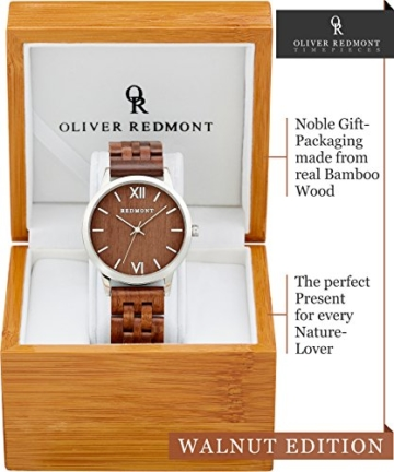 REDMONT Herrenuhr mit Holzarmband Analog Quarz Horizon Collection Walnut Edition - 2