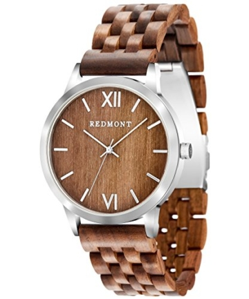 REDMONT Herrenuhr mit Holzarmband Analog Quarz Horizon Collection Walnut Edition - 1