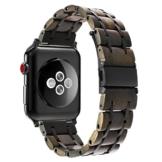 TRUMiRR Für Apple Watch 42mm Holz Armband, Natürliches Holz & Edelstahl Uhrenarmband Armband Ersatzarmband für iWatch 42mm Serie 3 2 1 Alle Modelle - 1